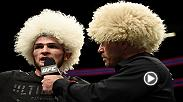 Hear from Khabib Nurmagomedov from the Octagon following his win over Edson Barboza in the co-main event of UFC 219 in Las Vegas, NV.
