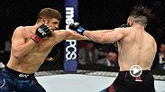 Calvin Kattar speaks from the Octagon following his defeat of Shane Burgos at UFC 220 in front of his hometown Boston fans.