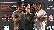 The stars of Fight Night: Machida vs Anders face off after meeting with media. Main card action kicks off at 10pm ET, with prelims starting things off at 8pm ET. Exclusive FIGHT PASS prelims get things underway at 7pm ET.