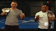 The Ultimate Fighter: Undefeated coaches and UFC 226 opponents Stipe Miocic and Daniel Cormier squared off for the first time at the UFC Performance Institute in Las Vegas, NV.