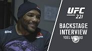 Go backstage at UFC 221 with Yoel Romero after his victory in Perth, Australia over Luke Rockhold. Romero talks to UFC correspondent Megan Olivi about the huge win.