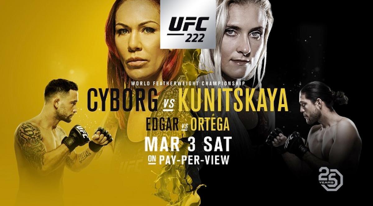 Resultado de imagen para ufc 222 cyborg vs kunitskaya