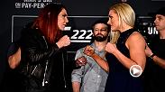 Watch the highlights from Thursday's UFC 222 Media Day face-offs.