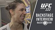 Watch Mackenzie Dern backstage after her victory over Ashley Yoder at UFC 222.