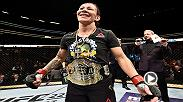 Watch Cris Cyborg in the Octagon after her victory over Yana Kunitskaya at UFC 222.