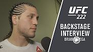 Brian Ortega talks backstage with Megan Olivi about his impressive victory over Frankie Edgar and likely title shot opportunity with Max Holloway.