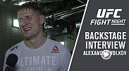 Watch Alexander Volkov in backstage after his victory over Fabricio Werdum at Fight Night London.