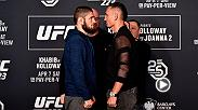 Watch the superstars of UFC 223 come face-to-face after Ultimate Media Day. Khabib Nurmagomedov and Max Holloway faceoff for the second time, Rose Namajunas and Joanna Jedrzejczyk have another instense staredown and much more.