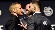 Watch all the face offs from the UFC 25th Anniversary press conference in Brooklyn. Staredowns include Stipe Miocic and Daniel Cormier, TJ Dillashaw and Cody Garbrandt, Rafael Dos Anjos and Colby Covington, Amanda Nunes and Raquel Pennington and more.