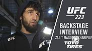 Zabit Magomedsharipov showed off his vast toolbox with a phenomenal performance on the Pay Per View big stage, outlasting an extremely game Kyle Bochniak to improve to 3-0 in the UFC. He spoke backstage about his performance.