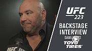 UFC President Dana White breaks down the UFC 223 event backstage at the Barclays Center in Brooklyn, NY.