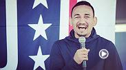 Host Lisa Foiles goes behind the scenes on a recent USO tour featuring Max Holloway and Paige VanZant.