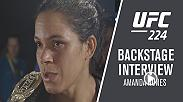 After defending her batamweight title at UFC 224, we caught up with Amanda Nunes backstage to talk about her title defense, Raquel Pennington and her thoughts on Cris Cyborg.