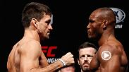 Watch the highlights from Friday's official weigh-in, featuring Demian Maia & Kamaru Usman.