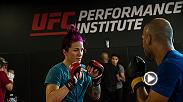 UFC women's bantamweight Gina Mazany discusses training at the UFC Performance Institute and the type of performance we can expect from her inside the Octagon at Fight Night Liverpool.