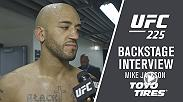Megan Olivi talks to Mike Jackson following his victory over CM Punk at UFC 225 in Chicago.