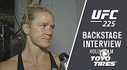 We catch up with Holly Holm backstage following her main card victory over Megan Anderson at UFC 225.