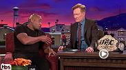 UFC light heavyweight champion Daniel Cormier discusses his upcoming super fight with heavyweight champion Stipe Miocic on the Conan O'Brien show and why he nearly cancelled his appearance.
