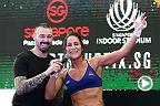 Hear from UFC flyweight fighter Jessica Eye as she prepares to take on Jessica Rose-Clark at Fight Night Singapore on Saturday.