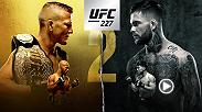 UFC 227 features two epic title matches. TJ Dillashaw and Cody Garbrandt meet for the bantamweight title and Demetrious Johnson attempts to defend his belt in the co-main against Henry Cejudo. Don't miss the action live on PPV on August 4.