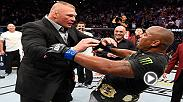 Relive the wild moment when Brock Lesnar shared the Octagon with Daniel Cormier following Cormier's KO win over Stipe Miocic to become heavyweight champ at UFC 226.