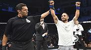 "Chad Mendes after his UFC Boise victory over Myles Jury: ""I'm just super excited to be back. Anyone in the top five give it to me let's go."""