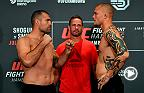 Watch the Fight Night Hamburg weigh-in faceoffs featuring Shogun Rua, Anthony Smith and many more.