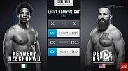 Kennedy Nzechukwu's second appearance on Dana White's Tuesday Night Contender Series went much better than his first as a head kick helped punch his ticket to a UFC contract.