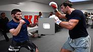 Lightweight champion Khabib Nurmagomedov prepares for his first title defense in San Jose, California. Khabib will be putting his undefeated record on the line at UFC 229 against Conor McGregor.