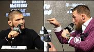 Things got testy between UFC lightweight champion Khabib Nurmagomedov and former two-time titleholder Conor McGregor during a raucous press conference at Radio City Music Hall for UFC 229, happening on 10/6/18 on Pay Per View.