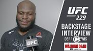 Watch Derrick Lewis talk backstage after his win over Alexander Volkov at UFC 229.