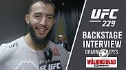 Watch Dominick Reyes talk backstage after his win over Ovince Saint Preux at UFC 229.