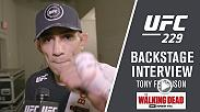 Watch Tony Ferguson backstage after his victory over Anthony Pettis at UFC 229.