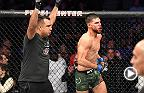 Watch Yair Rodriguez in the Octagon after his win in the main event at Fight Night Denver.