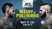 Welterweight contender Santiago Ponzinibbio enters the Fight Night Buenos Aires main event matchup with Neil Magny on a six-fight win streak.