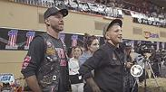 "Bantamweight champion TJ Dillashaw and Donald ""Cowboy"" Cerrone got a chance to visit the Amazing Races for Haley Davidson's 115th anniversary in Milwaukee."