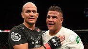 Former heavyweight champion Junior Dos Santos earns a big win over Tai Tuivasa at UFC Adelaide and the fighters meet with Dan Hardy in the Octagon to discuss.