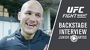 Former Heavyweight champ Junior Dos Santos reflects back on his TKO stoppage of Tai Tuivasa backstage at UFC Adelaide and calls for a rematch with Alistair Overeem next.