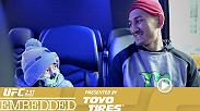 Max Holloway tours Toronto with his son. Brian Ortega plays pool and then trains inside a friend's expansive home. The stars perform at open workouts: Holloway, Ortega, Joanna Jedrzejczyk and Valentina Shevchenko.