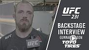 Gunnar Nelson impressed in his return to the Octagon and chatted with Megan Olivi backstage in Toronto.