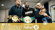 UFC 232 Embedded is an all-access, behind-the-scenes video blog leading up to the two massive title fights taking place Saturday, December 29th on Pay-Per-View.