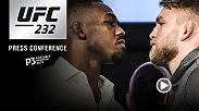 Ahead of their championship bouts at UFC 232, UFC will host a press conference with Jon Jones, Alexander Gustafsson, Cris Cyborg, Amanda Nunes and Dana White.