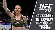 Watch Megan Anderson backstage after her win at UFC 232.