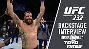 Watch Michael Chiesa backstage after his win at UFC 232.
