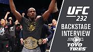 Watch Jon Jones backstage after his win at UFC 232.