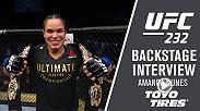 Watch Amanda Nunes backstage after her win at UFC 232.