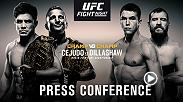 Ahead of the UFC's anticipated debut on ESPN+, the UFC will hold a press conference with Dana White, Henry Cejudo, TJ Dillashaw, Alex Hernandez, and Donald Cerrone, live from Brooklyn, New York at 2p/11a ETPT.