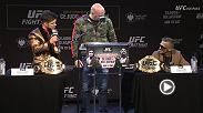 "Hear from Dana White, Henry Cejudo, TJ Dillashaw, Donald ""Cowboy"" Cerrone and more at the Pre-Fight Press Conference ahead of UFC Fight Night: Cejudo vs Dillashaw this Saturday on ESPN+."
