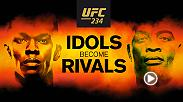 Idols become rivals at UFC 234 on February 9th as Israel Adesanya faces former middleweight champion Anderson Silva in the co-main event.