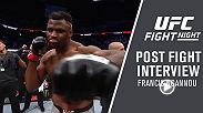 After the biggest win of his career Francis Ngannou spoke with Megan Olivi backstage in Phoenix.